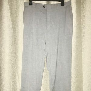 Light gray Kenneth Cole flat front trousers 34/32